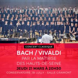 BACH / VIVALDI PAR LA MAÎTRISE DES HAUTS-DE-SEINE