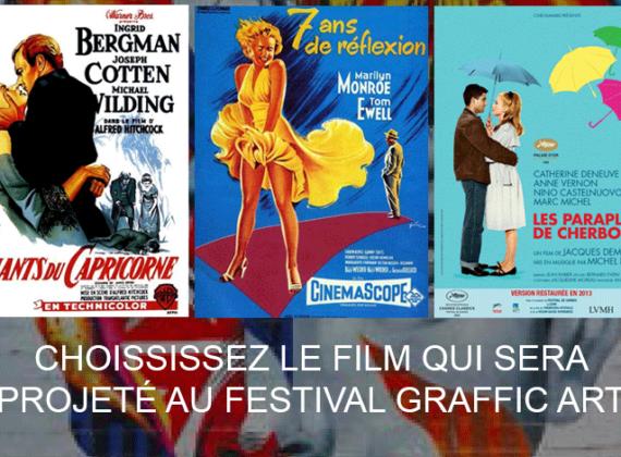 Choisissez le film qui sera projeté lors du festival Graffic Art