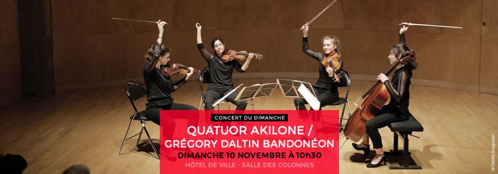 QUATUOR AKILONE/ GRÉGORY DALTIN BANDONÉON