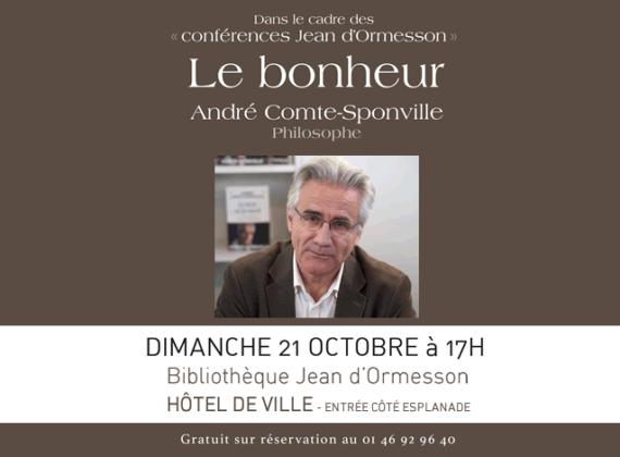 Conférence d'André Comte-Sponville sur le bonheur