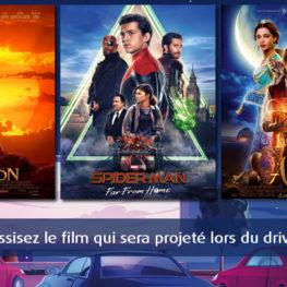 Choississez le film qui sera projeté lors du Drive-In
